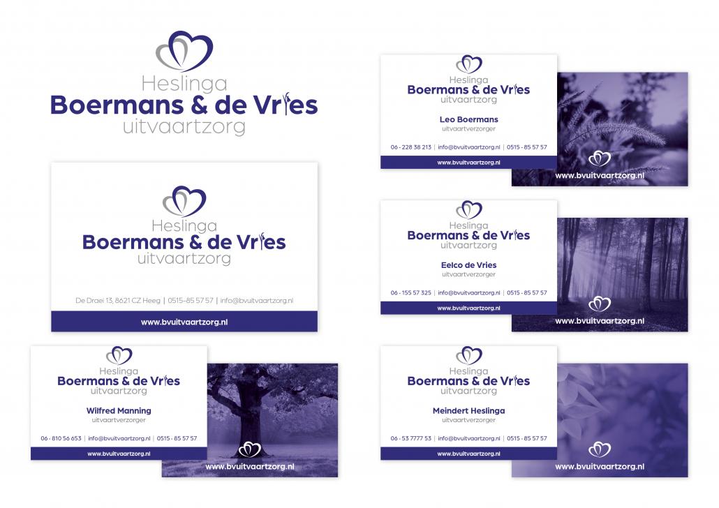 Visitekaartjes Boermans & De Vries